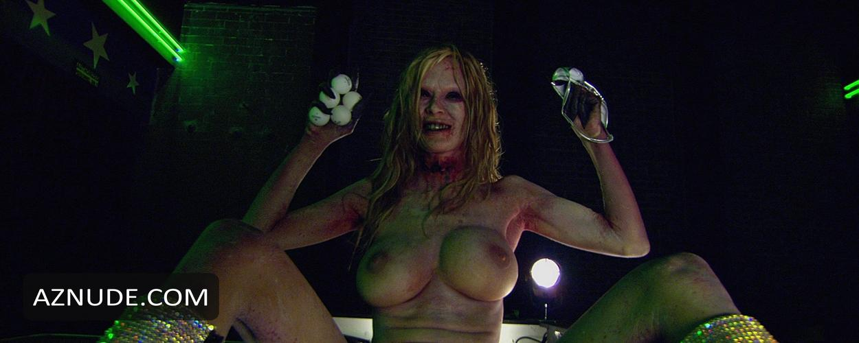 With zombie movie with nude dancing girl
