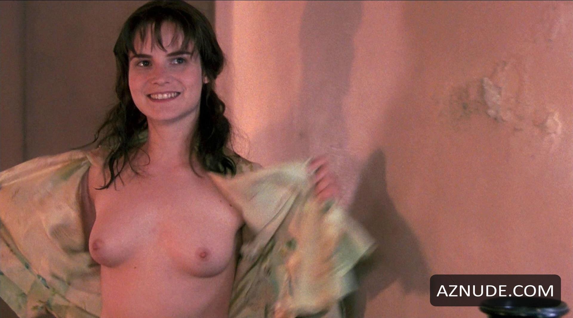 Naked asian girl outside