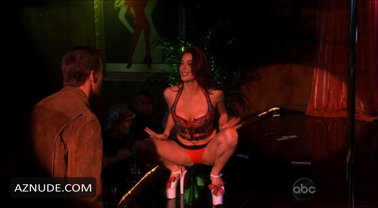 Stripper pole hatcher Teri on a